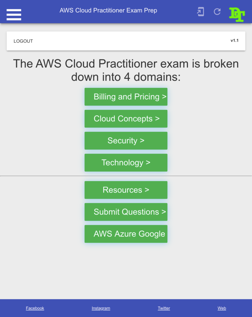 AWS Cloud Practitioner Exam Prep - Any Device